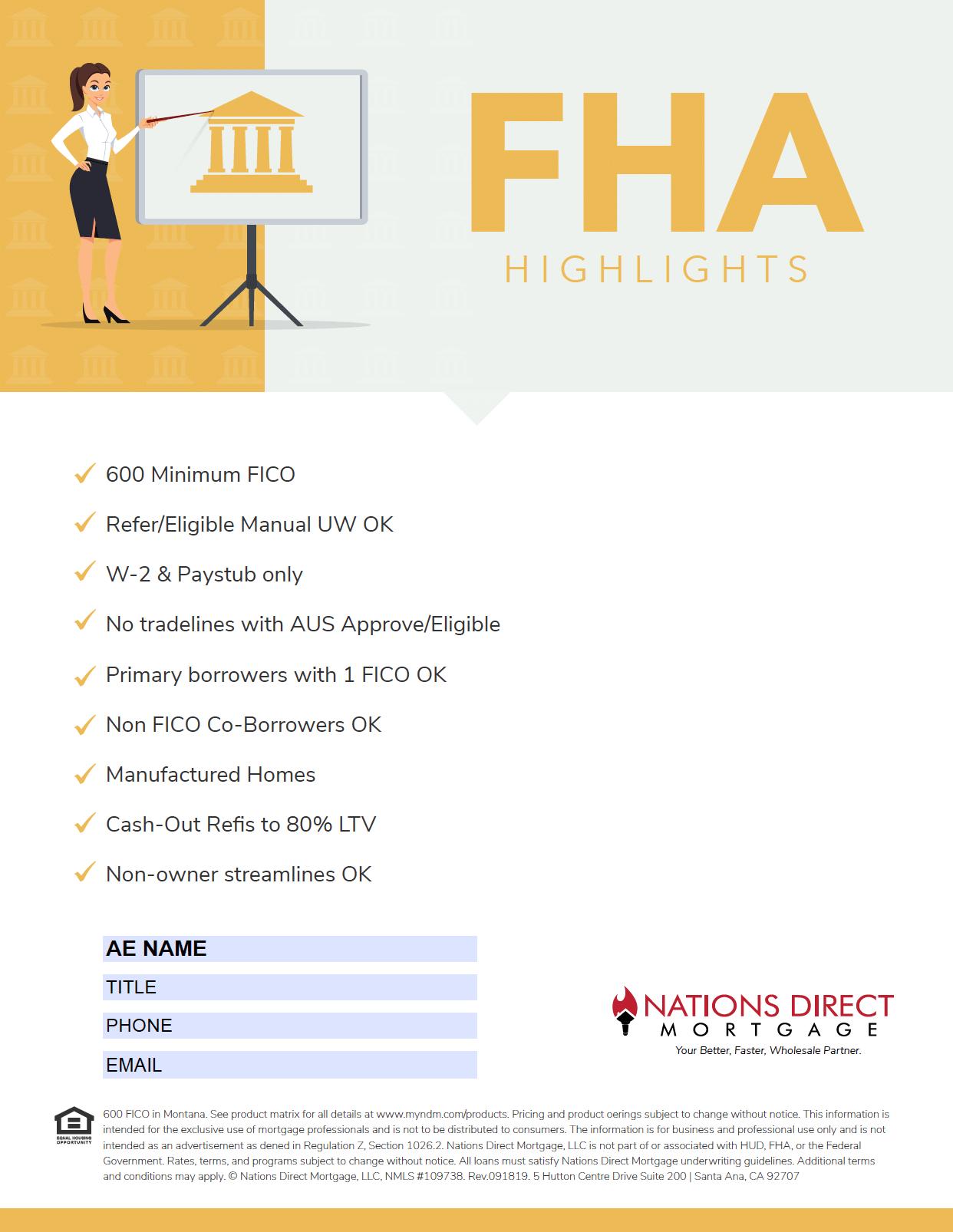 FHA Flyer