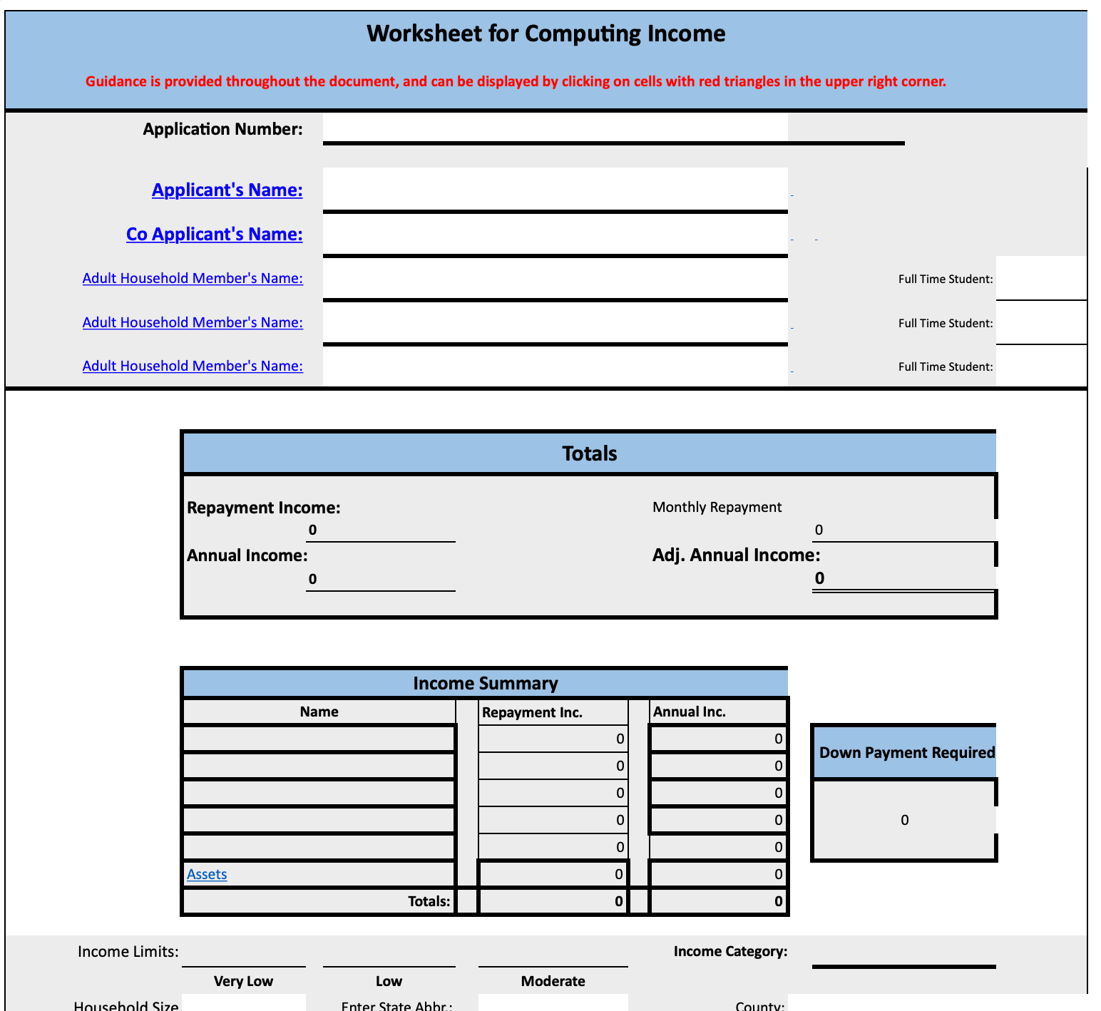 USDA Worksheet thumb